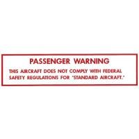 Passenger Warning