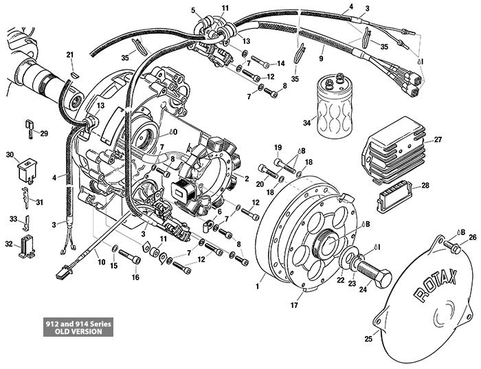 [DIAGRAM_38ZD]  ROTAX 912 | 914 UL ENGINE MAGNETO-GENERATOR | PICK UP | RECTIFIER REGULATOR  | California Power Systems | Rotax 912 Engine Diagram |  | California Power Systems